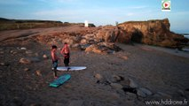 Saint-Pierre Quiberon: Shark Surf session HDdrone - TV Quiberon 24/7
