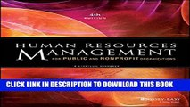 [PDF] Human Resources Management for Public and Nonprofit Organizations: A Strategic Approach Full