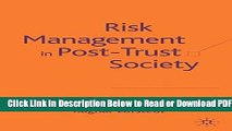 Risk Management in Post-Trust Society
