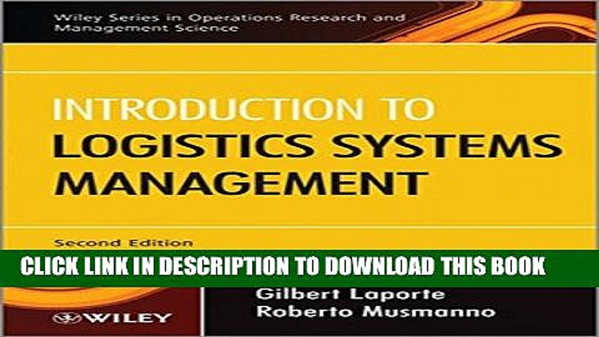 Introduction to Logistics Systems Management, Second Edition