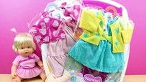 Armario de Nenuco | Juguetes de la muñeca Bebe Nenuco en español | Vestir muñecas para niñas