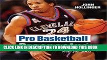 [PDF] Pro Basketball Prospectus: 2002 Edition (Pro Basketball Forecast) Full Online