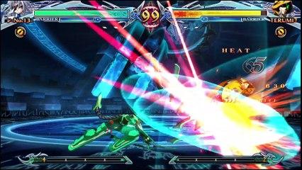 BlazBlue: Chrono Phantasma Extend Nu-13 vs Yuuki-Terumi review footage by Classic Game Room