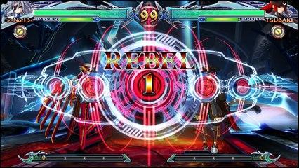 BlazBlue: Chrono Phantasma Extend Nu-13 vs Tsubaki-Yayoi review footage by Classic Game Room