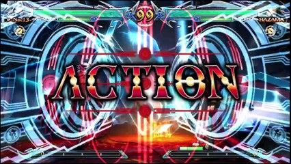 BlazBlue: Chrono Phantasma Extend Nu-13 vs Hazama review footage by Classic Game Room