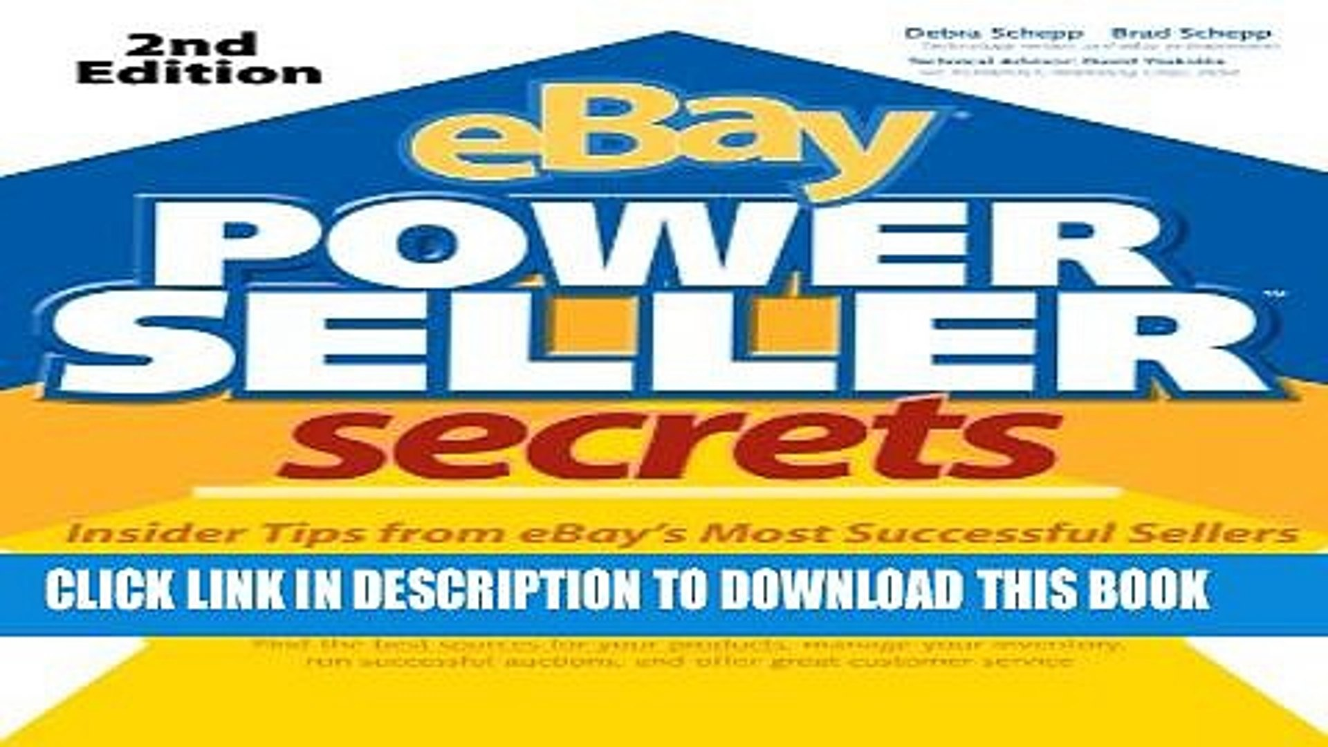 Pdf Ebay Powerseller Secrets 2e V 2 E Full Online Video Dailymotion