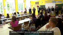 Rentrée 2016/2017 dans les collèges de Meurthe-et-Moselle