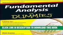 [PDF] Fundamental Analysis For Dummies Popular Colection