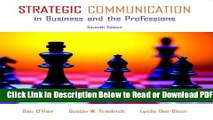 [Get] Strategic Communication in Business and the Professions (7th Edition) Popular Online