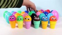 Play Doh Surprise Ice Creams Video Play-Doh Ice Cream Cones Surprise Eggs Play Food Toy Videos