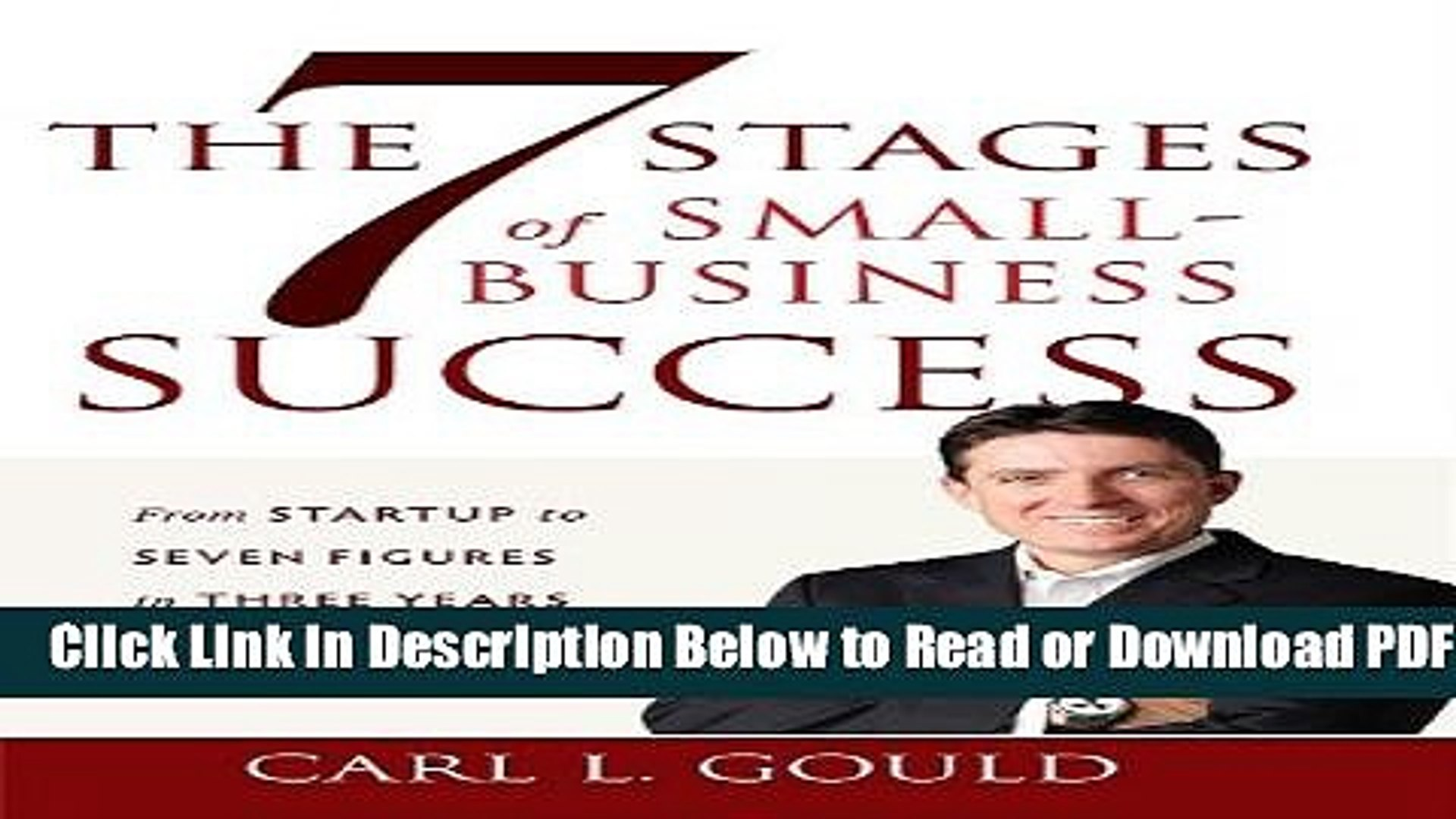 [Download] The 7 Stages of Small-Business Success: From Startup to Seven  Figures in Three Years or
