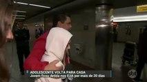 Jovem brasileira que ficou detida por mais de 20 dias nos EUA volta para casa