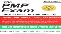 [Download] The PMP Exam: How to Pass on Your First Try by Andy Crowe (2004-12-01) Online Ebook