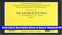 [Get] Marketing, Volume 5 (Handbooks in Operations Research and Management Science) Free Online