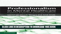Collection Book Professionalism in Mental Healthcare: Experts, Expertise and Expectations