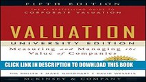 [PDF] Valuation: Measuring and Managing the Value of Companies, University Edition, 5th Edition