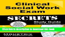 Download Clinical Social Work Exam Secrets Study Guide: ASWB Test Review for the Association of