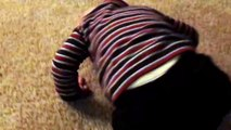 Funny Cutest Baby Struggles To Take Off Socks