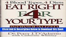 [Best] Eat Right for Your Type Live Right for Your Type (4 blood types, 4 diets 4 blood types, 4
