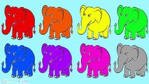 Learn Colors with Elephant Coloring Pages Rainbow Ice Cream Popsicle Ducks for Kids Who Love Animals