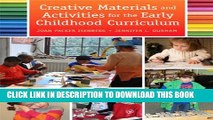 [PDF] Creative Materials and Activities for the Early Childhood Curriculum Full Online