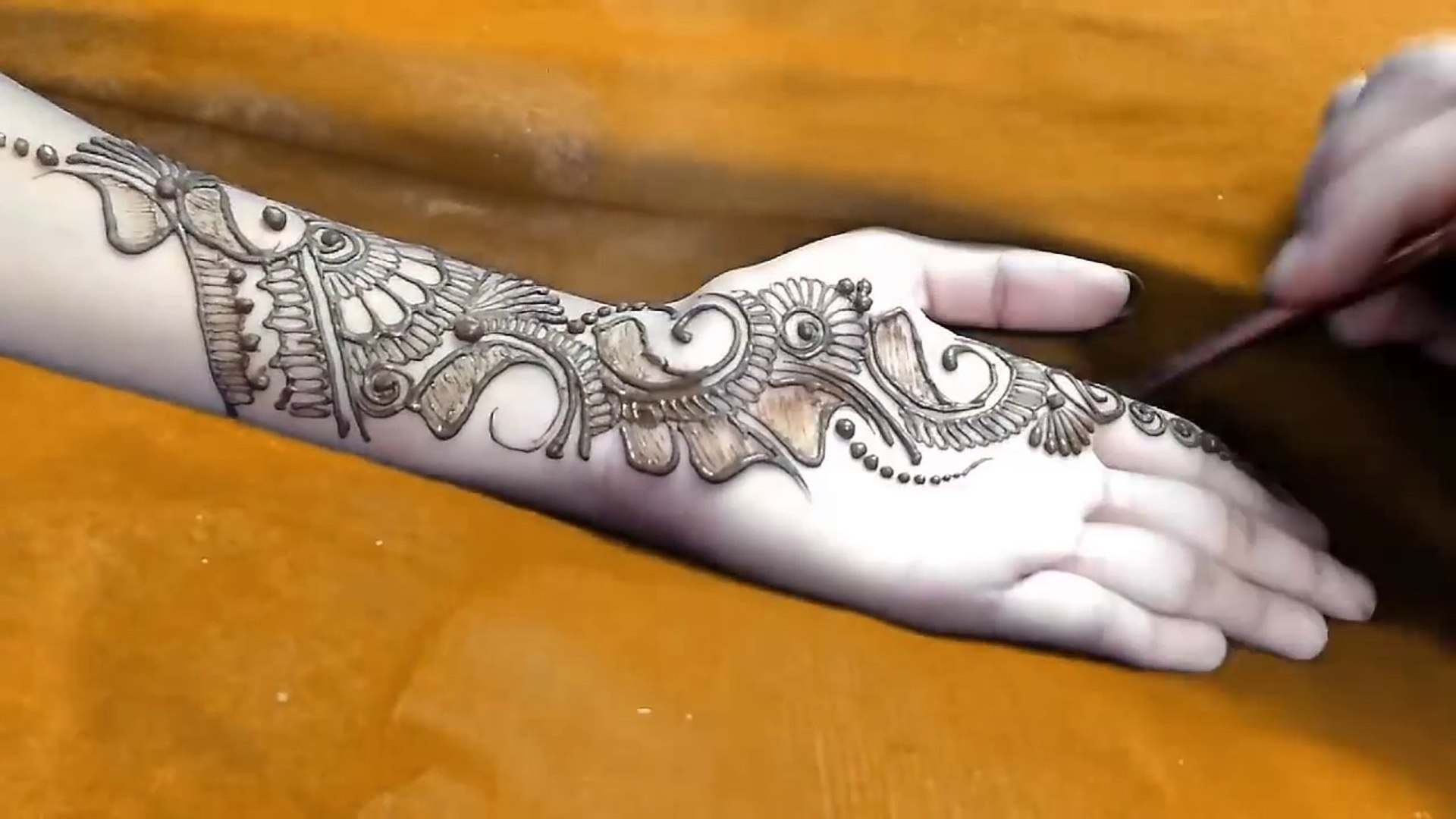 New Indo Arabic Mehndi Design For Hands Step By Step Video