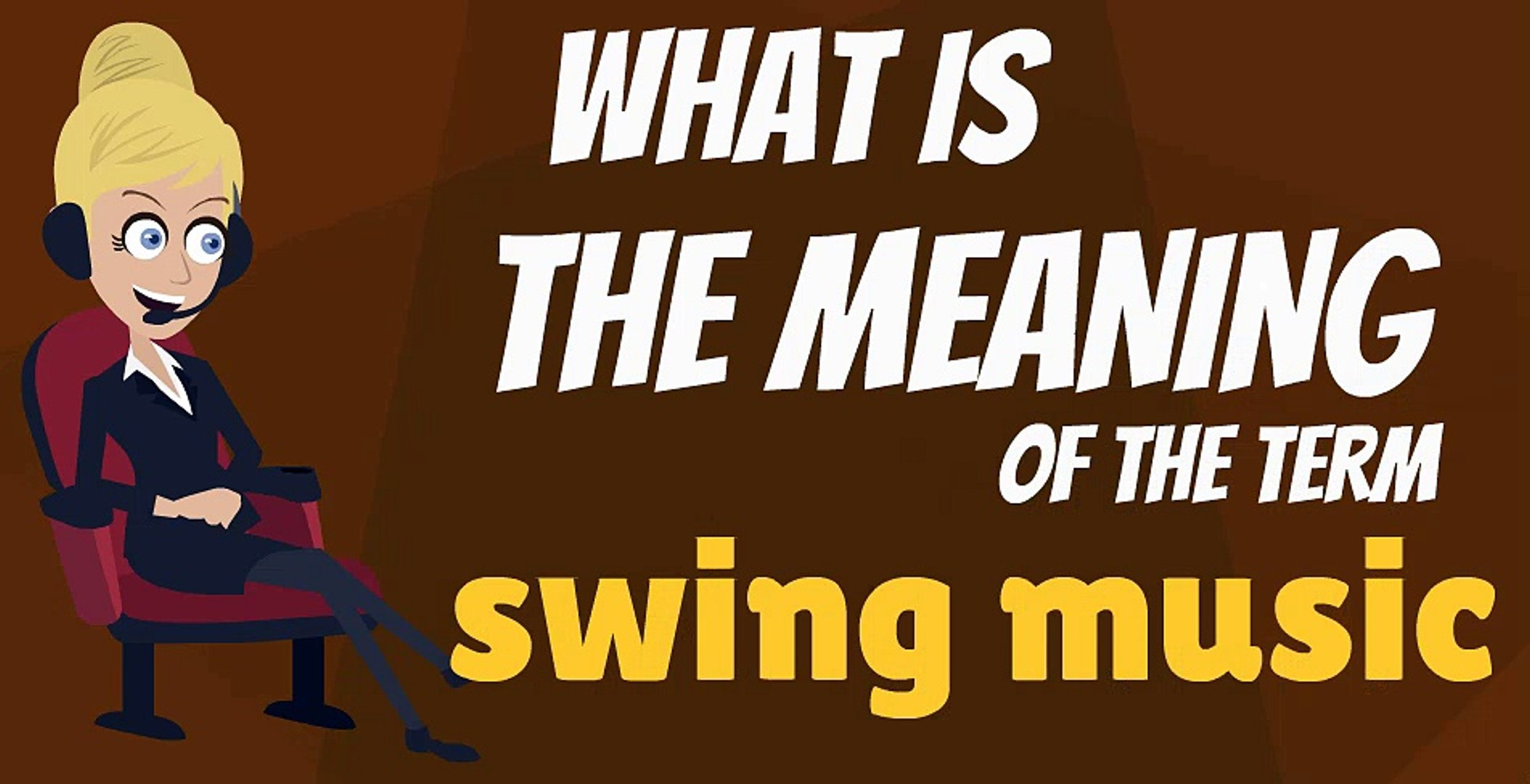 What Is Swing Music What Does Swing Music Mean Swing Music Meaning Definition Explanation Pronunciation