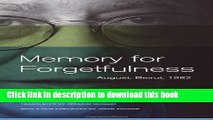 Read Memory for Forgetfulness: August, Beirut, 1982 (Literature of the Middle East)  Ebook Free