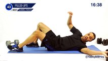 20 Min. Six-Pack Abs  Hybrid Dumbbells Workout - How to Get Abs Using Weights