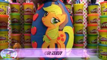 MY LITTLE PONY GIANT Play Doh Surprise Egg APPLE JACK - Surprise Egg and Toy Collector SETC