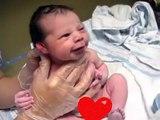 After Birth Newborn Baby Start Laughing, Newborn Baby Smiling