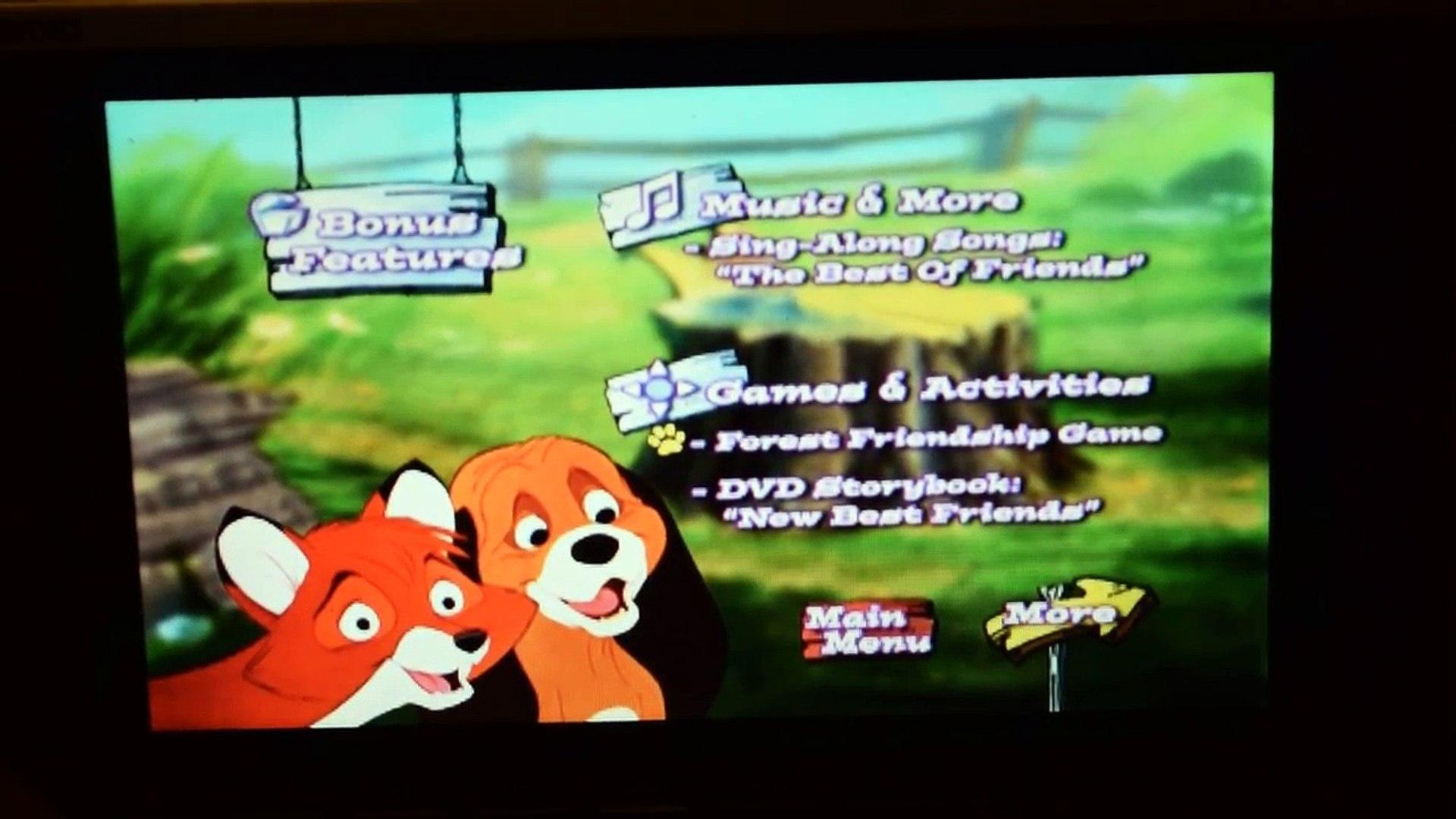 Disney Fox And The Hound Dvd Menu Walkthrough 25th Anniversary