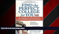 Online eBook Find the Perfect College for You: 82 Exceptional Schools that Fit Your Personality