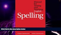 Big Deals  Manual for Testing and Teaching English Spelling  Best Seller Books Most Wanted