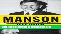 Download Manson: The Life and Times of Charles Manson (Thorndike Press Large Print Biographies