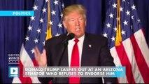 'Very weak and ineffective': Donald Trump blasts Republican senator Jeff Flake