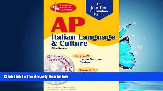 For you AP Italian Language and Culture w/ Audio CDs (Advanced Placement (AP) Test Preparation)