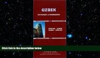 EBOOK ONLINE  Uzbek-English/English-Uzbek Dictionary and Phrasebook: Romanized (Hippocrene
