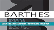 [PDF] Roland Barthes by Roland Barthes Full Collection