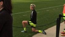 Soccer star Megan Rapinoe follows Colin Kaepernick in kneeling for anthem