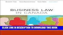 [PDF] Business Law in Canada, Tenth Canadian Edition Plus MyBusLawLab with Pearson eText -- Access