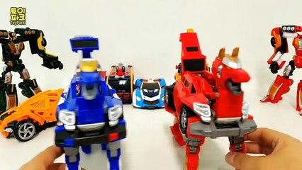Carbot Tobot Captin Ugaba Police Fire Truck Poclain SportCar 9 Vehicle Transformer Robot Car Toys