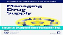 [PDF] Managing Drug Supply: The Selection, Procurement, Distribution, and Use of Pharmaceuticals