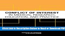 [PDF] Conflict of Interest in Medical Research, Education, and Practice Free New