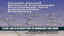 [PDF] Graph-based Natural Language Processing and Information Retrieval Popular Colection