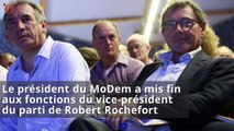 Exhibition sexuelle : François Bayrou écarte Robert Rochefort du MoDem