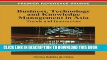 [PDF] Business, Technology, and Knowledge Management in Asia: Trends and Innovations Popular