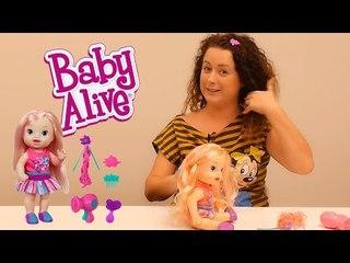 Baby Alive Güzel Saçlı Bebeğim İle Saç Tasarımcısı Oluyoruz...