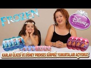 Karlar Ülkesi ve Disney Prenses Sürpriz Yumurtaları Açıyoruz...