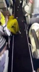 Un avion de la compagnie Saudi Arabian Airlines dans un état dégueulasse